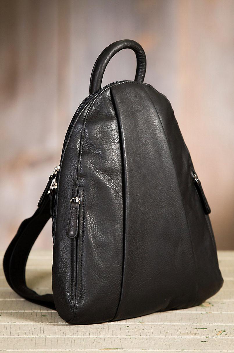 29bd5fd4a97 Teardrop Leather Backpack Purse | Overland