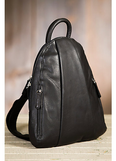 Teardrop Leather Backpack Purse