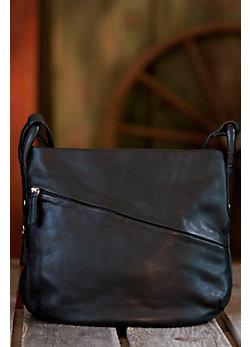 Sherlee Cashmere Leather Bucket Handbag