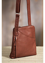 Makenzie Cashmere Leather Messenger Bag