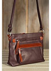 Lucy Leather Crossbody Handbag