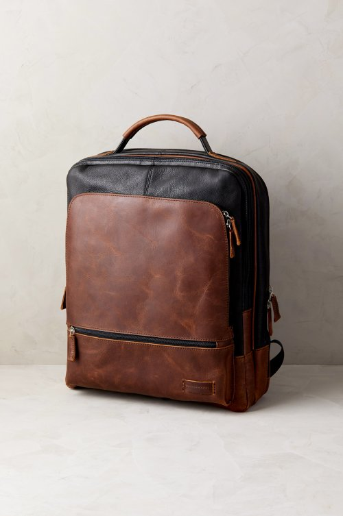 Princeton Argentine Leather Backpack with RFID Protection