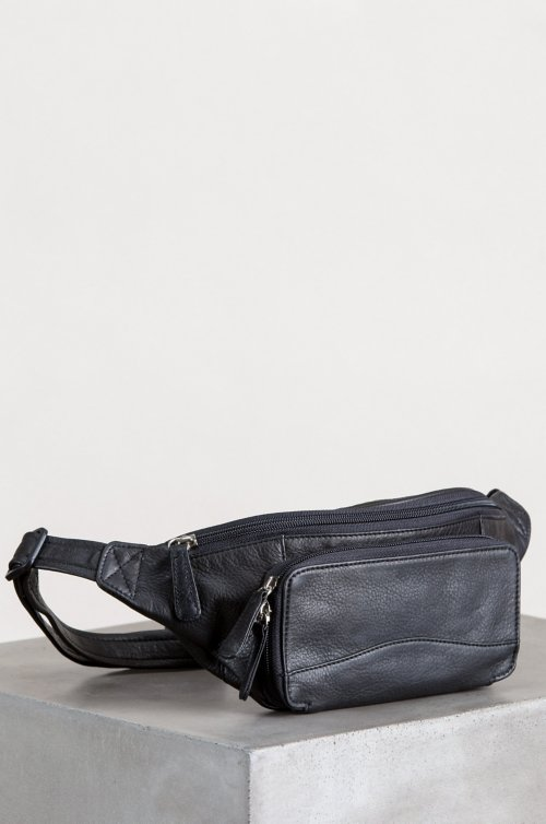 Argentine Leather Waist Pack with RFID Protection