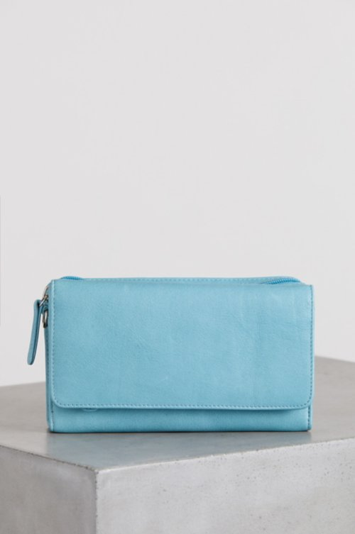 Florence Argentine Leather Crossbody Clutch Wallet