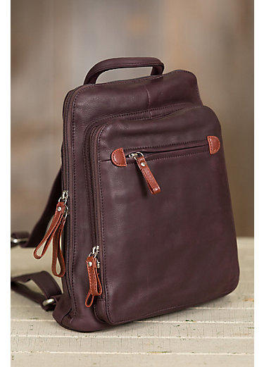 Macy Leather Backpack Purse