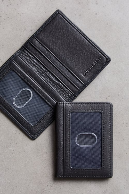 Double ID Leather Card Case with RFID Protection