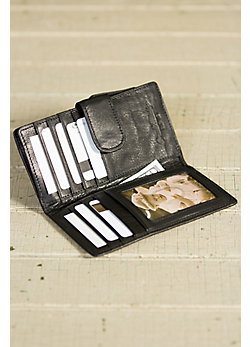 Card Case Leather Wallet with RFID Protection