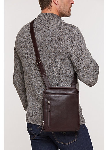 Charles Argentine Leather Crossbody Messenger Bag