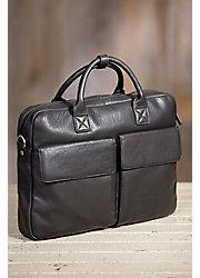 Shane Argentine Cowhide Slim Leather Briefcase