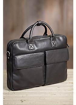 Shane Argentine Cowhide Slim Leather Briefcase