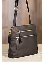 Mable Leather Crossbody Handbag