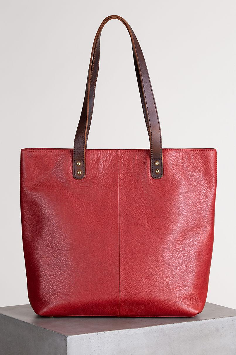 Aurora Leather Tote Bag