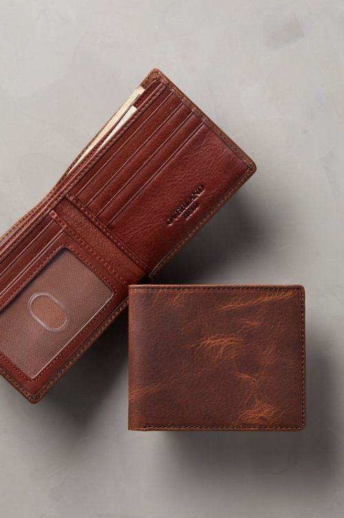 Thinfold Distressed Leather Billfold Wallet with RFID Protection