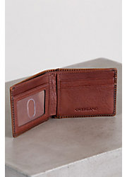 Ultra-Mini Thinfold Distressed Leather Billfold Wallet with RFID Protection