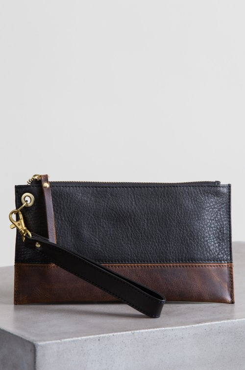 Celia Argentine Leather Wristlet Clutch Wallet with RFID Protection