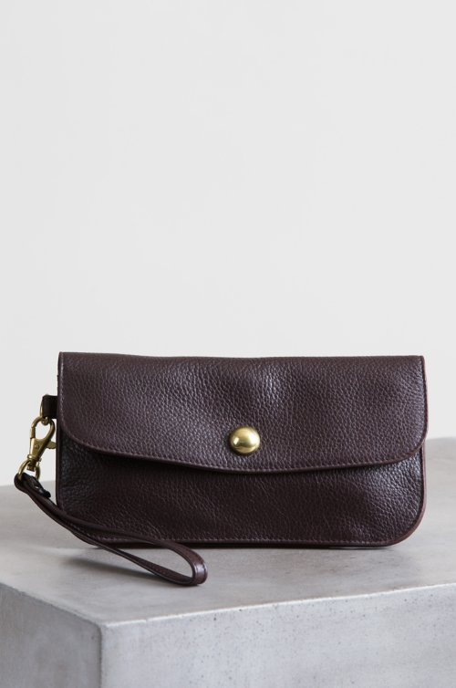 Florence Argentine Leather Crossbody Clutch Wristlet
