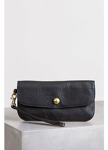 Kim Argentine Leather Crossbody Clutch Wristlet with RFID Protection