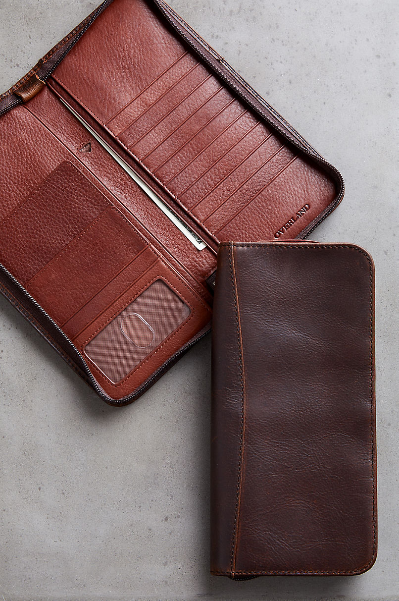 Argentine Leather Passport Wallet with RFID Protection