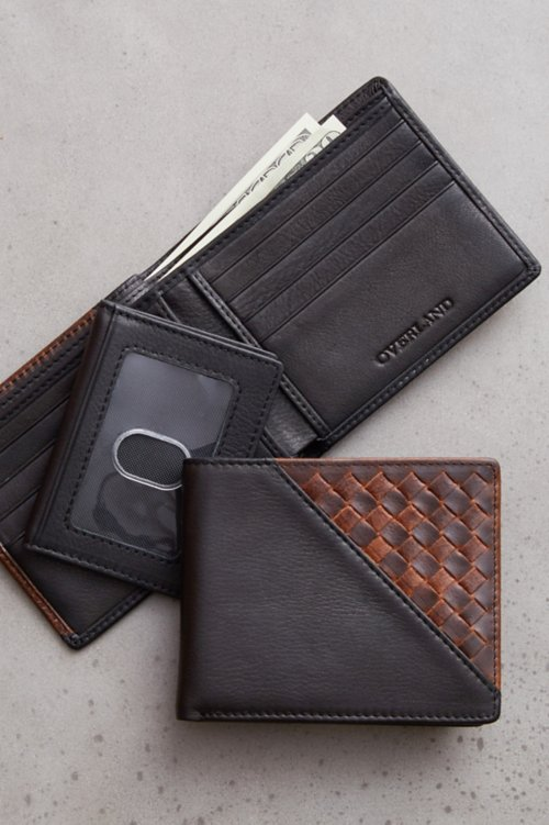 Woven Argentine Leather Billfold with Removable Passcase
