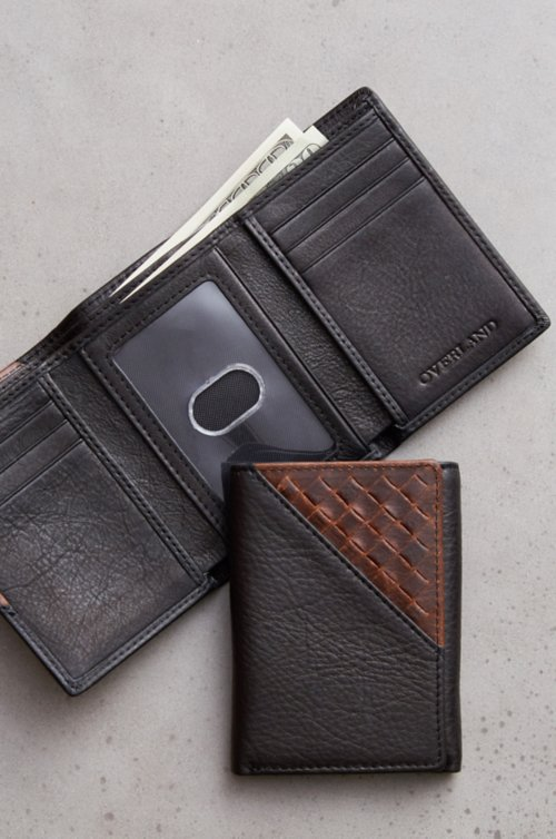 Woven Argentine Leather Trifold Wallet