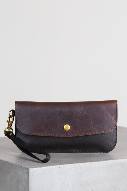 Roma Argentine Leather Crossbody Clutch Wristlet Wallet