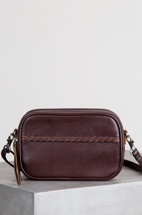Venice Argentine Leather Crossbody Camera Clutch
