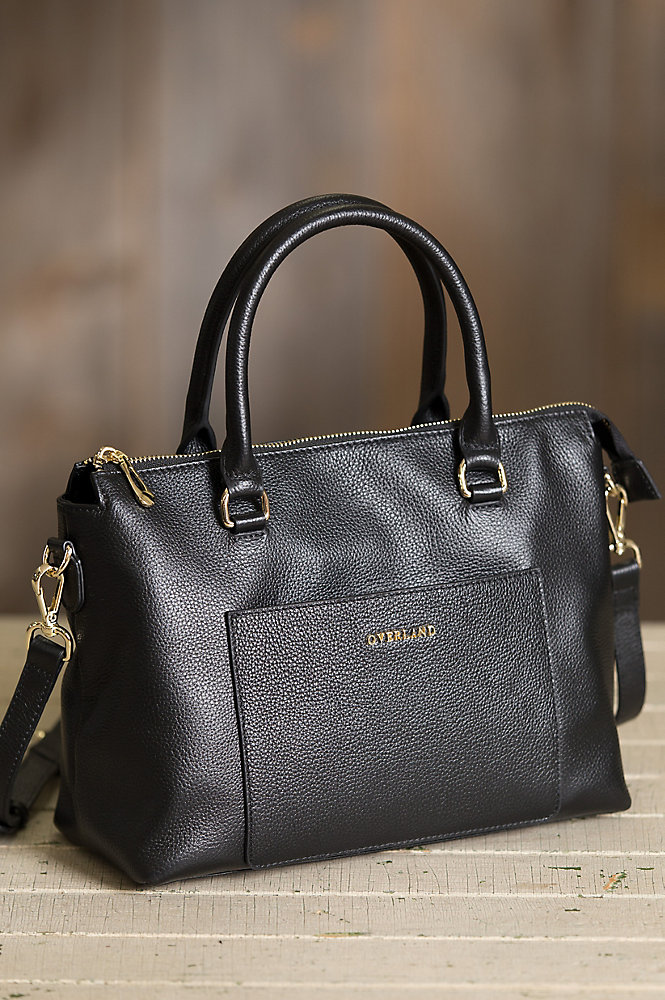 Fairmont Pebbled Leather Handbag