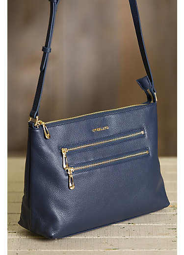 Brookville Leather Crossbody Bag