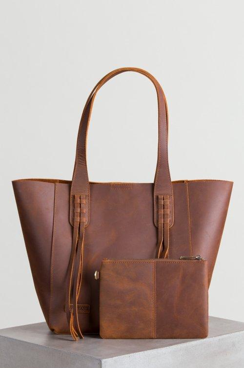 Tahoe Distressed Leather Tote Bag