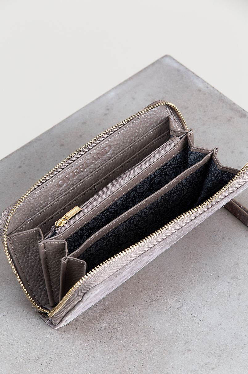 Westminster Pebbled Leather and Suede Clutch Wallet