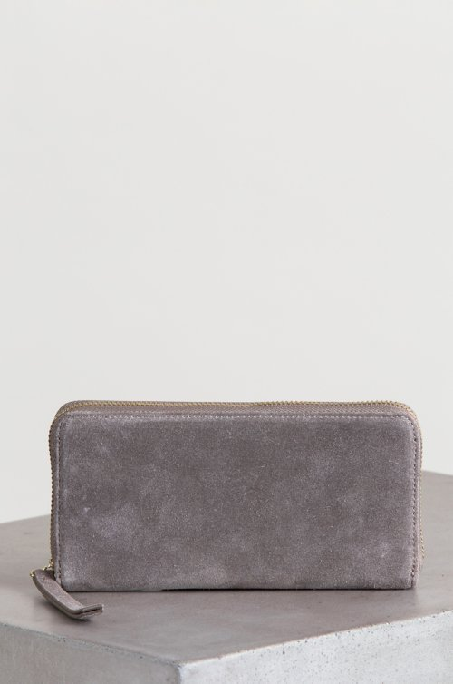 Westminster Pebbled Leather and Suede Wallet