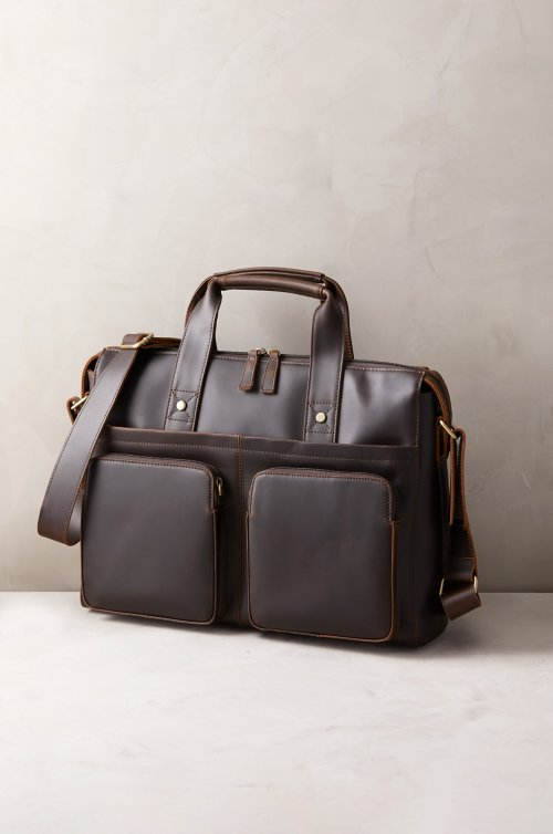 Tahoe Distressed Leather Briefcase