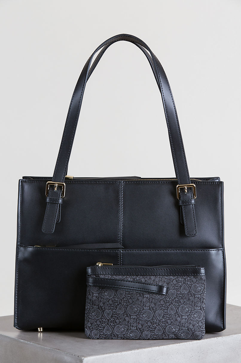 Lincoln Park Leather Tote Handbag