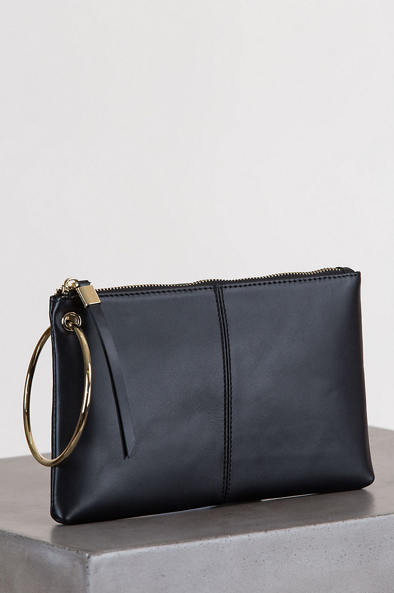 Lincoln Park Leather Wristlet Clutch Wallet