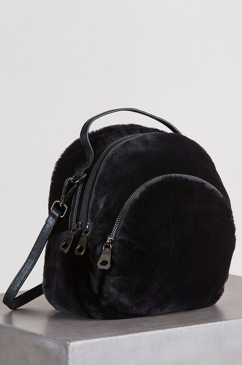Whistler Sheepskin Backpack Purse