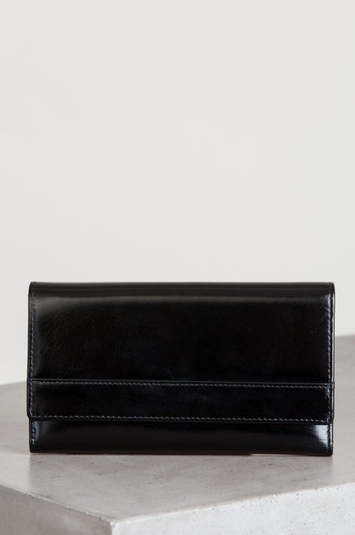 Ruby Oiled-Leather Clutch Wallet