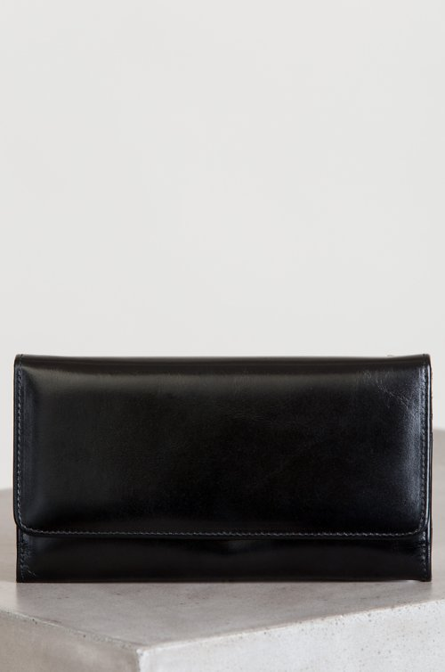 Josephine Oiled-Leather Clutch Wallet