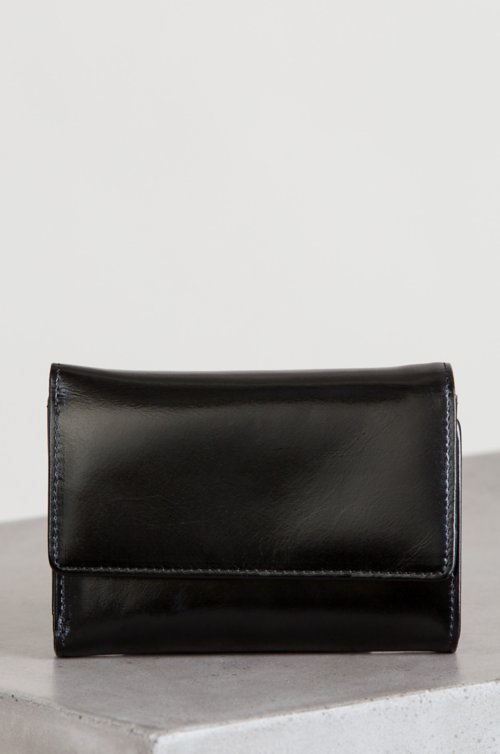 Greer Tri-Fold Oiled-Leather Clutch Wallet