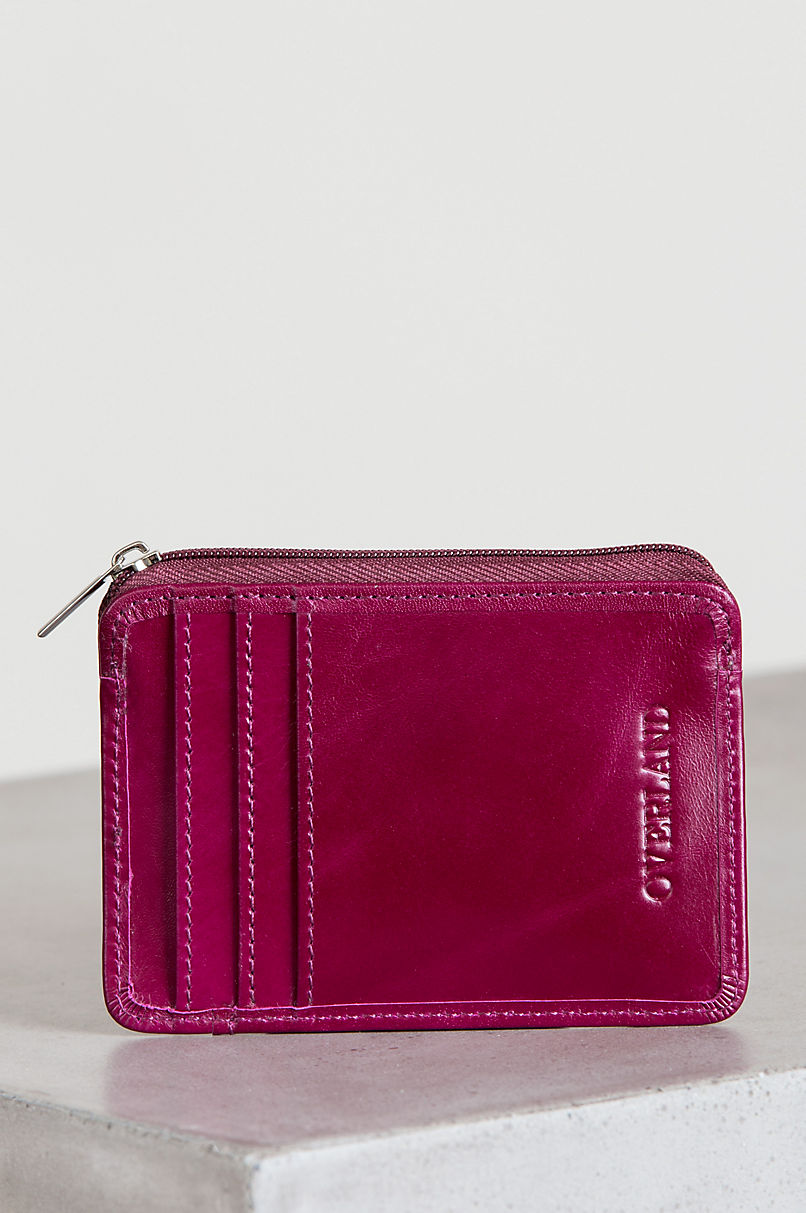 Shandi Oiled-Leather Card Case Wallet