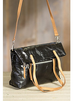 Hobo Leonie Convertible Leather Crossbody Tote Bag