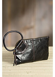 Hobo Sable Leather Wristlet Wallet
