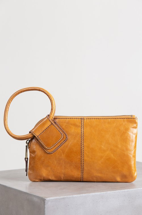 Hobo Sable Leather Wristlet Clutch Wallet
