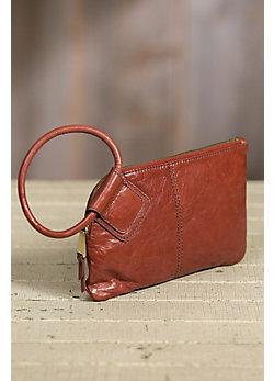 Hobo Sable Leather Wristlet Wallet