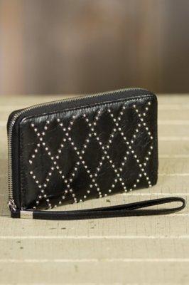 Hobo Devin Leather Wristlet Wallet