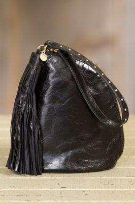 Hobo Twilight Leather Wristlet Clutch