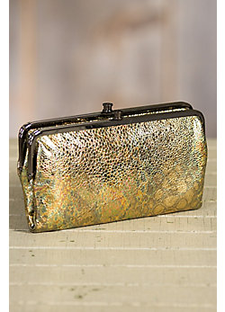 Hobo Lauren Patterned Leather Clutch Wallet