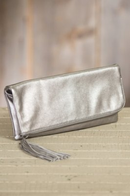 Hobo Raine Leather Clutch Handbag