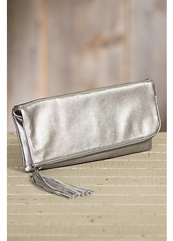 Hobo Raine Leather Clutch Handbag