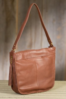 Hobo Wisteria Leather Handbag
