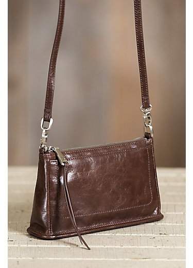 Hobo Cadence Leather Crossbody Clutch Handbag